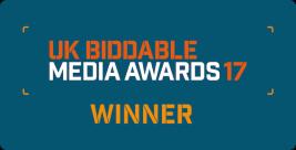 UK Biddable Media Awards winner